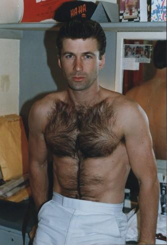 Alec Baldwin young and hairy